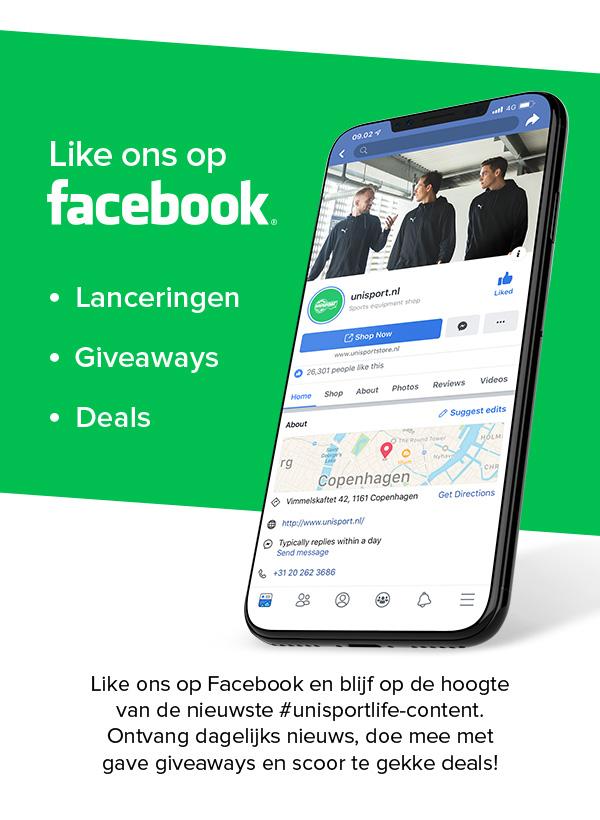 Like ons op Facebook.